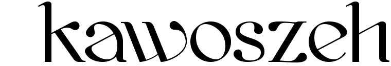 Font Kawoszeh made by gluk