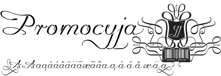 Font Promocyja made by gluk