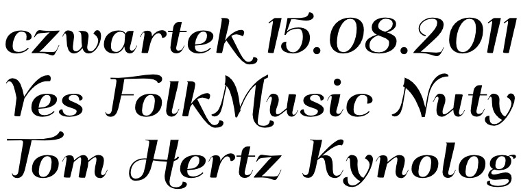 Font QumpellkaNo12 with contextual Alternates