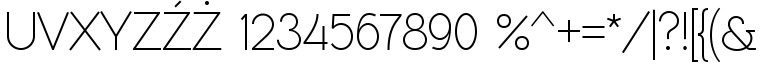 Font RawengulkSans numbers by gluk