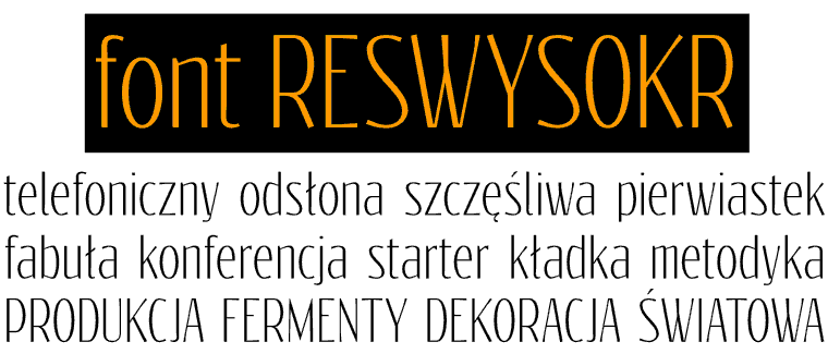 Font Reswysokr made by gluk