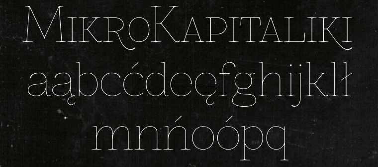 Thin font Znikomit SmallCaps made by gluk