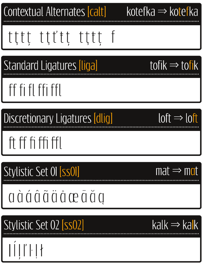 OpenType Features in font Reswysokr