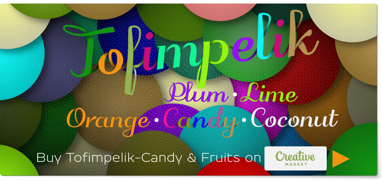 OpenTypeSVG color fonts Tofimpelik-Candy & Fruifs